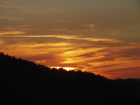 Sunset at the mountain;