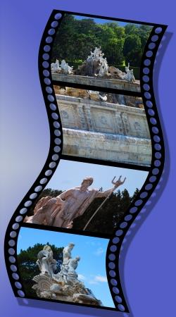 sch: Fountain of the park of Castle Sch
