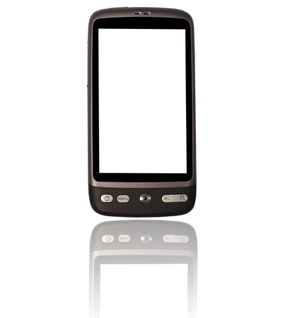 Cellphone on white background