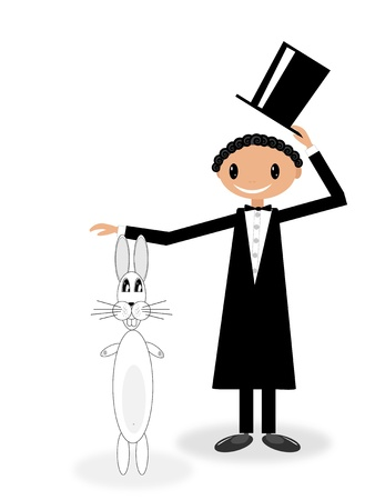 Magician with bunny Vector