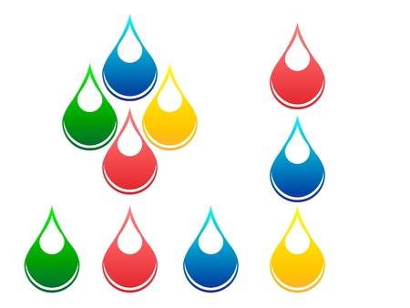 Drops of fluids Stock Vector - 15350201