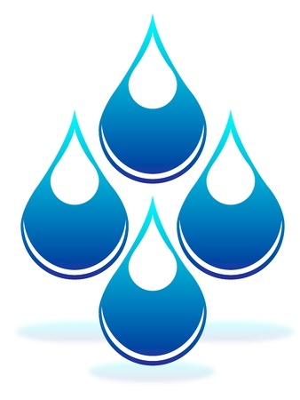 h20: Drops of water Illustration