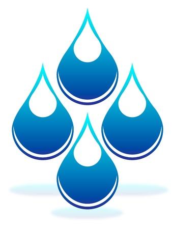 Drops of water Stock Vector - 15350205
