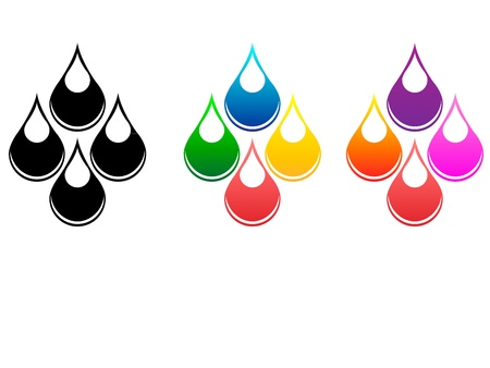 Drops of fluids Vector