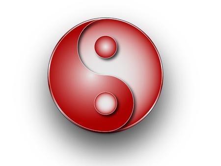 Yin-Yang symbol Ilustrace