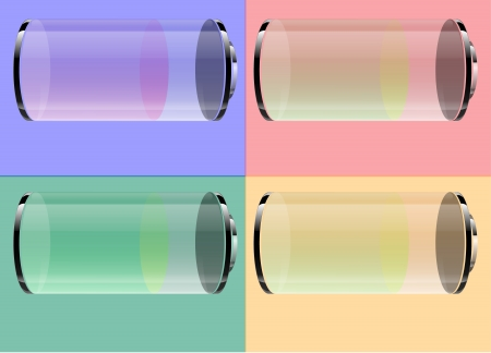 Transparent battery Stock Vector - 15406853
