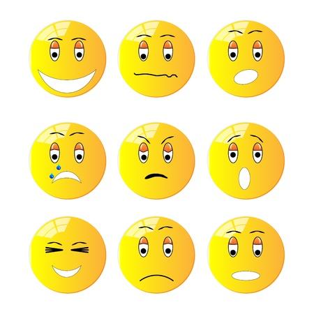 Group of emotion icons Illustration