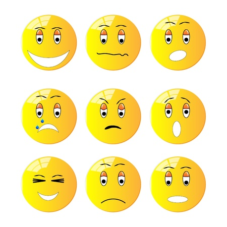 Group of emotion icons Vectores