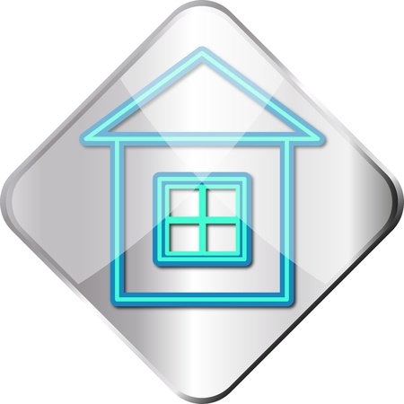 Silver home icon Vector
