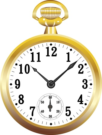 Golden pocket watch Vector