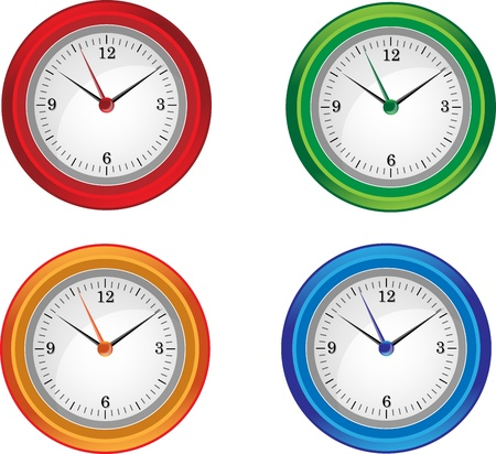 Clocks isolated Illustration