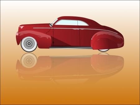 car showroom: Espejo viejo coche