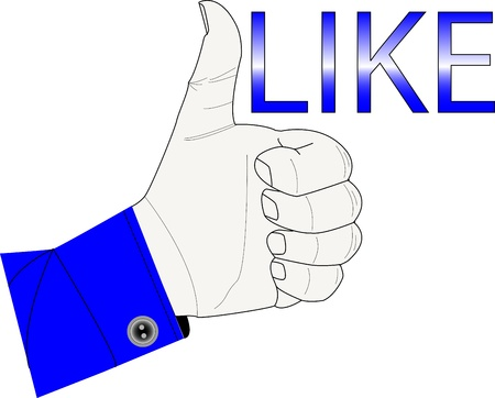 Like button Stock Vector - 15683370