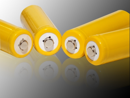 Yellow rechargeable batteries Stock Photo - 15683373