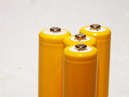 rechargeable: Yellow rechargeable batteries
