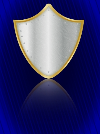 Shield on blue field Stock Photo - 16003414