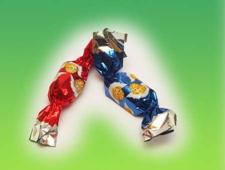 Hungarian Christmas sweet candy that is made by chocolate Stock Photo - 16887269