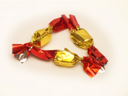 Hungarian Christmas sweet candy that is made by chocolate Stock Photo - 16887262