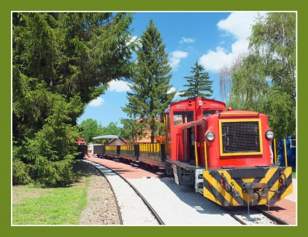 Old diesel engine train at the station Stock Photo - 17445724