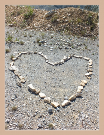 Heart in a Hungarian rock mine Stock Photo - 17354707