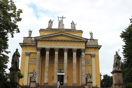 The Cathedral of Eger - old hungarian church Banco de Imagens