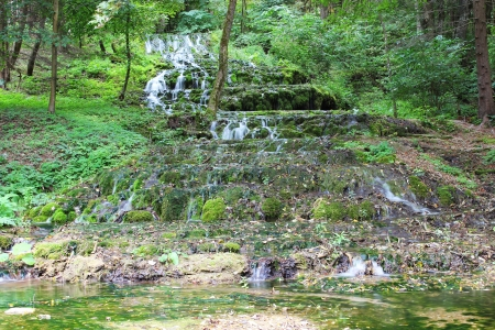 Veil Waterfall in the Szalajka Valley in Hungary