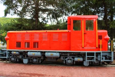 Narrow-gauge railway at Szilvasvarad station going to Szalajka in Hungary Stock Photo