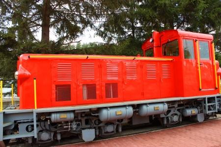 narrowgauge: Narrow-gauge railway at Szilvasvarad station going to Szalajka in Hungary Stock Photo
