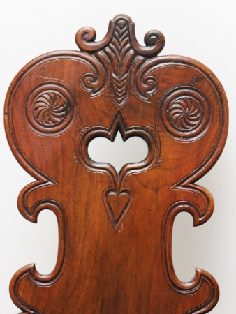 Old traditional hungarian carved chair