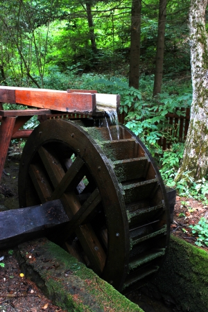 Old wooden water mill  - outdoor photography