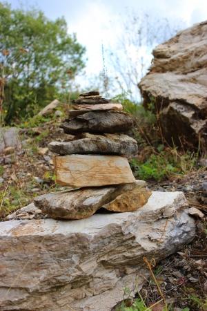 Stuck of little rocks at a stone mine