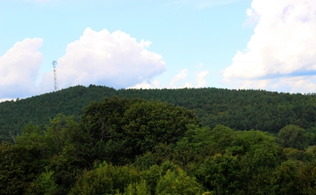 Hungarian landscape with mountain and forest - Hungary, Szarvasko photo