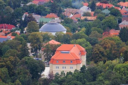 Cityscape from a town in Hungary, Szilvasvarad Stock Photo