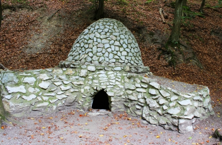 outdoor fireplace: Old fireplace in a Hungarian forest - outdoor photography
