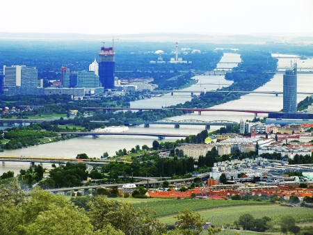 View of Vienna and the Danube from above