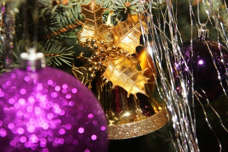 Close up picture from Christmas tree decoration Stock Photo