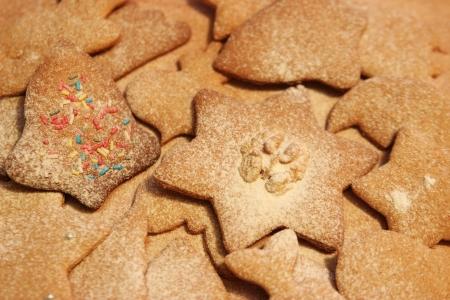 Christmas ginger cookie at christmas time
