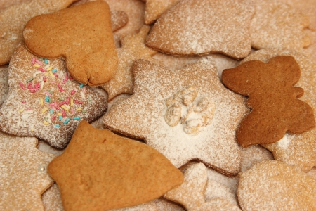 Christmas ginger cookie at christmas time