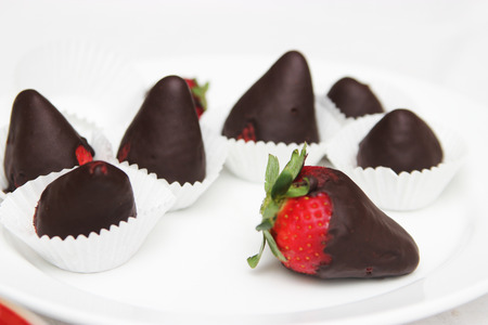 Chocolate Covered Strawberries - food photography photo