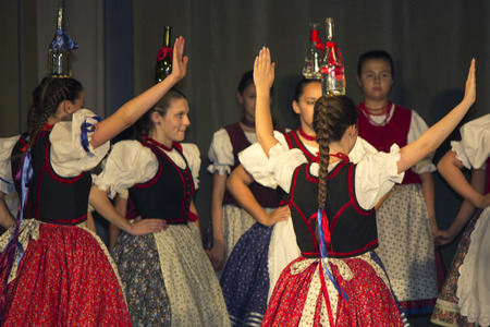 Hungarian folk dancers - event photography Stok Fotoğraf - 29151572
