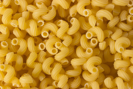 food photography: Macro shoot from twisted pipe pasta - food photography