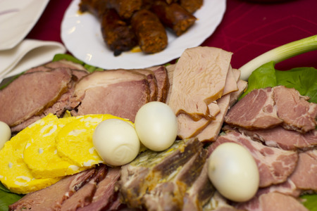 food photography: Traditional hungarian easter food - food photography Stock Photo