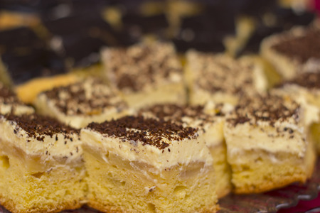 food photography: Close up picture from some delicious cake - food photography Stock Photo