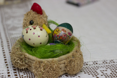 Handmade easter eggs - object photography photo