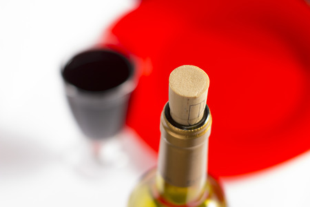 Delicious red wine on the table - food and beverage photography