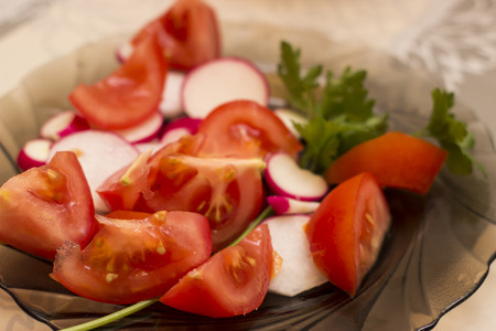 food photography: Helthy vegetable on a plate - food photography