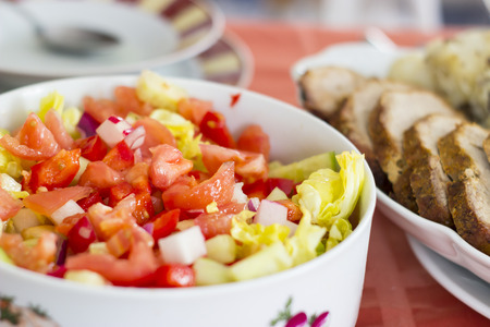 food photography: Healthy and delicious salad -food photography