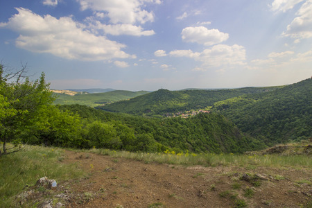 Beautiful Hungarian landscape with hill - outdoor phototgraphy