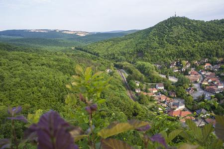 Aerial view of beech mountains near Szarvasko