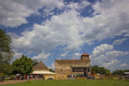 heritage protection: Castle of Gyula - Hungarian brick castle Editorial